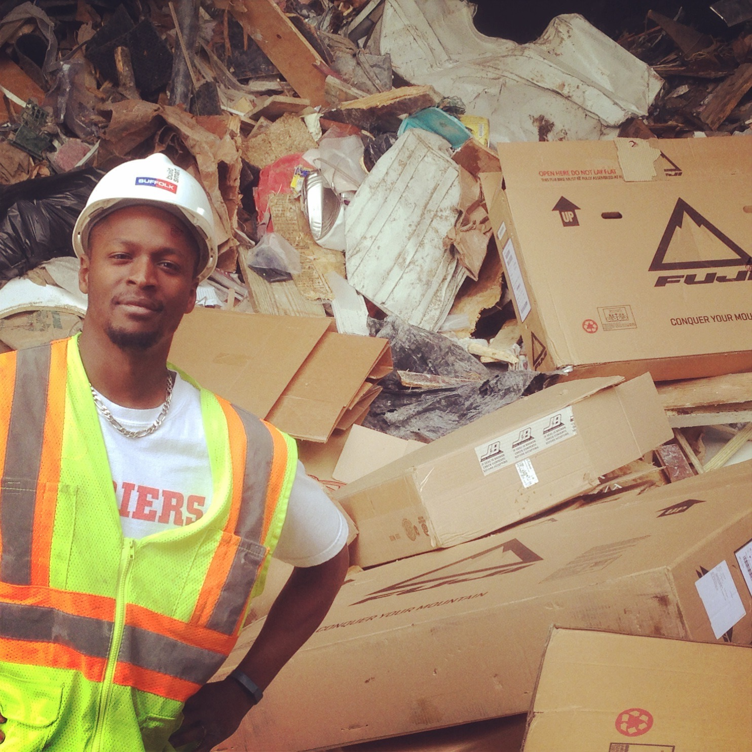 LeRoy Watkins at the Boston dump