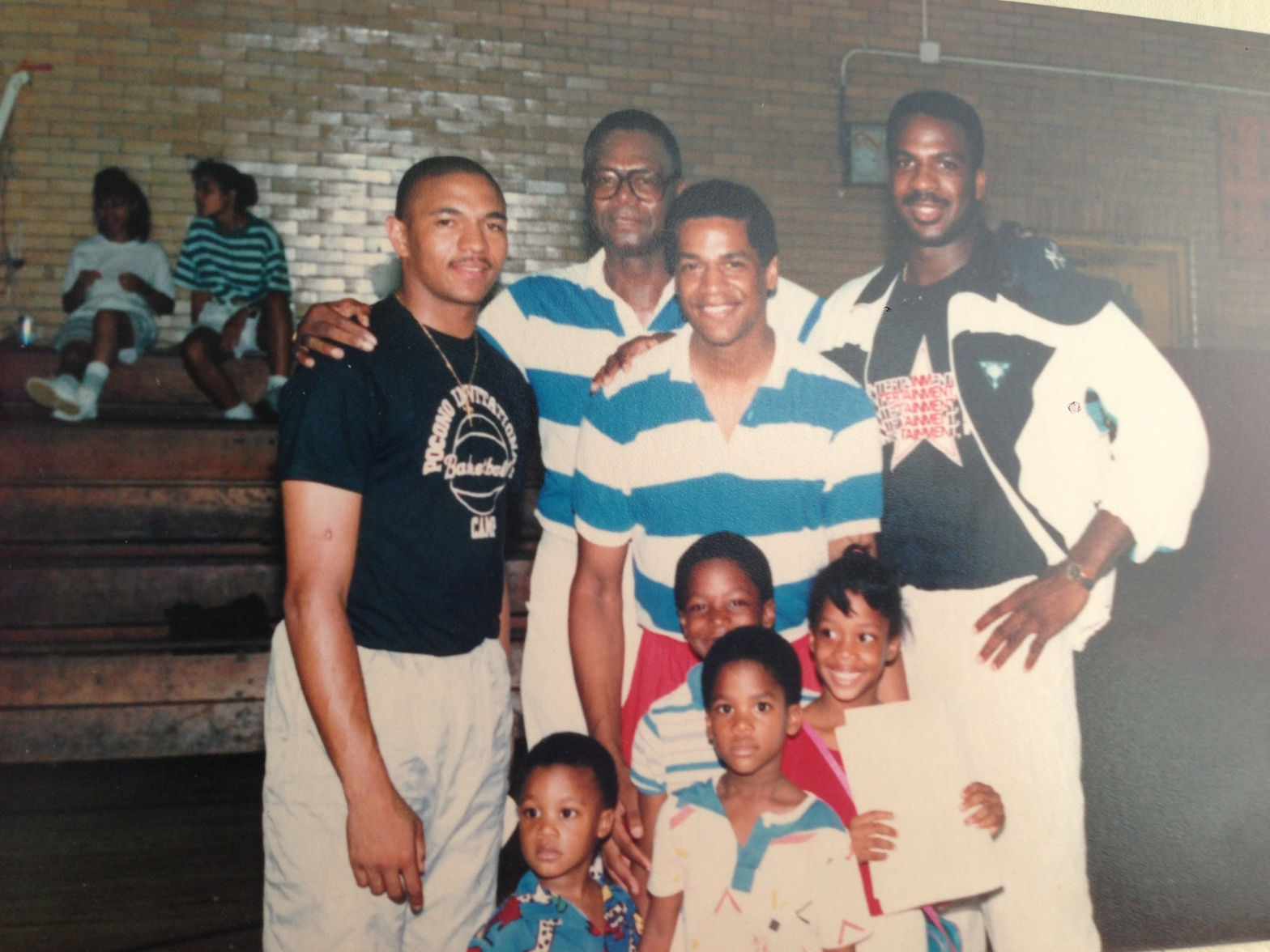 LeRoy Watkins III with his siblings and NBA basketball players