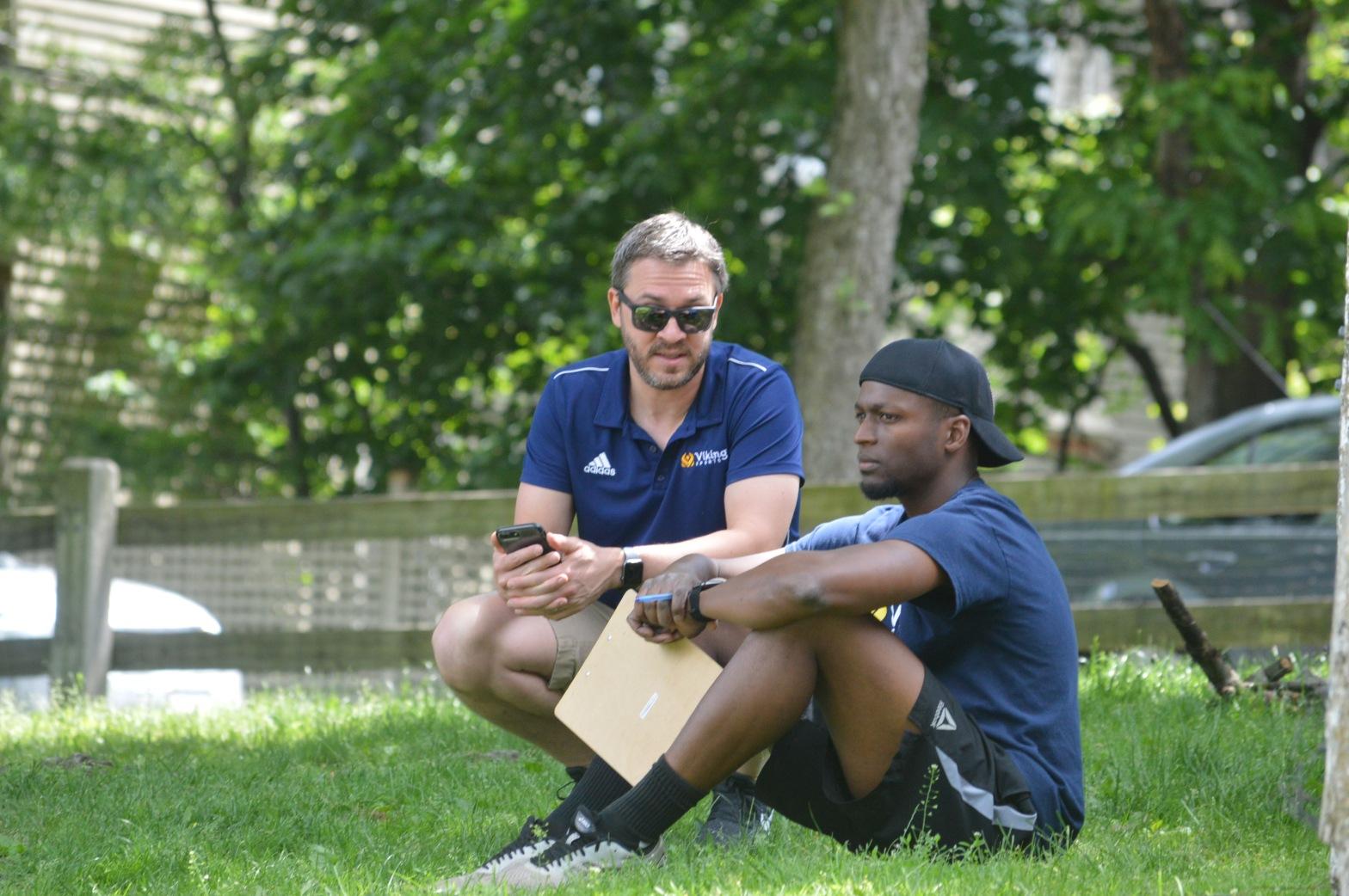 LeRoy Watkins and his business partner Zachary Lerman Viking Sports